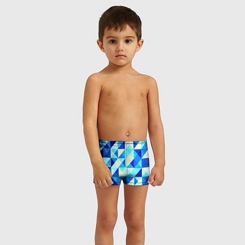 Детские плавки Синяя геометрия / 3D – фото 3
