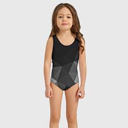 Купальник для девочки Abstract gray цвета 3D-принт — фото 2