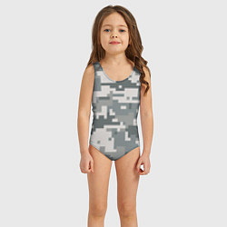 Купальник для девочки Камуфляж цвета 3D — фото 2