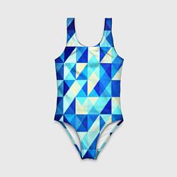 Детский купальник Синяя геометрия
