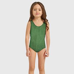 Купальник для девочки Змеиная зеленая кожа цвета 3D — фото 2