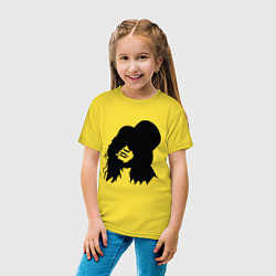Футболка хлопковая детская Guns n Roses - Slash цвета желтый — фото 2