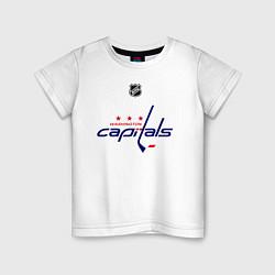 Футболка хлопковая детская Washington Capitals: Ovechkin 8 цвета белый — фото 1