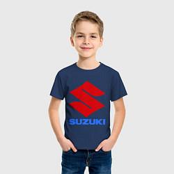 Футболка хлопковая детская Suzuki цвета тёмно-синий — фото 2