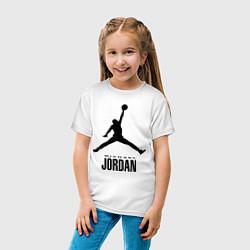 Детская хлопковая футболка с принтом Jordan Style, цвет: белый, артикул: 10011306700014 — фото 2