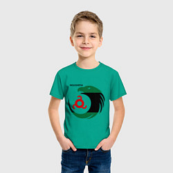 Футболка хлопковая детская Ingushetia Eagle цвета зеленый — фото 2