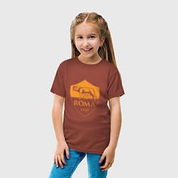 Футболка хлопковая детская AS Roma: Autumn Top цвета кирпичный — фото 2