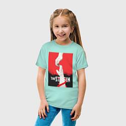 Футболка хлопковая детская The Strain: Hands цвета мятный — фото 2