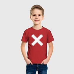 Футболка хлопковая детская The XX: White X цвета красный — фото 2