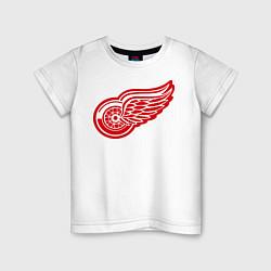 Футболка хлопковая детская Detroit Red Wings: Pavel Datsyuk цвета белый — фото 1