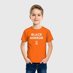 Футболка хлопковая детская Black Mirror: Loading цвета оранжевый — фото 2