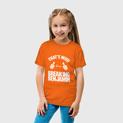 Футболка хлопковая детская That's Who Loves Breaking Benjamin цвета оранжевый — фото 2