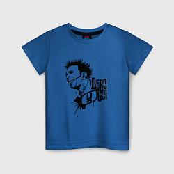 Футболка хлопковая детская Dero Goi: OOMPH! цвета синий — фото 1