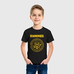 Футболка хлопковая детская Ramones цвета черный — фото 2