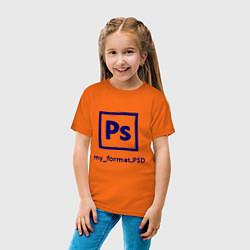 Футболка хлопковая детская Photoshop цвета оранжевый — фото 2