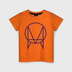 Футболка хлопковая детская Skrillex Symbol цвета оранжевый — фото 1