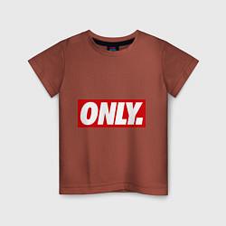 Футболка хлопковая детская Only Obey цвета кирпичный — фото 1