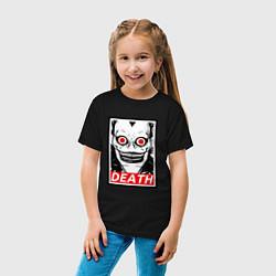 Футболка хлопковая детская Death Obey цвета черный — фото 2
