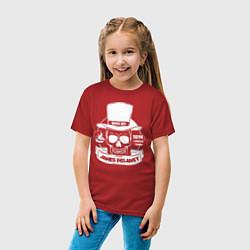 Футболка хлопковая детская Taboo: James Delaney цвета красный — фото 2