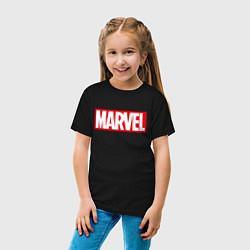 Футболка хлопковая детская MARVEL цвета черный — фото 2