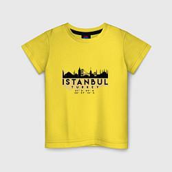 Футболка хлопковая детская Стамбул - Турция цвета желтый — фото 1