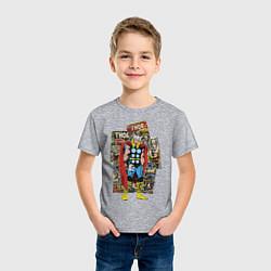 Футболка хлопковая детская Thor цвета меланж — фото 2