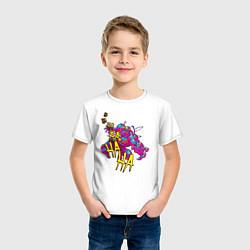 Футболка хлопковая детская Laughing Venom цвета белый — фото 2
