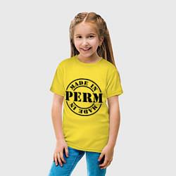 Футболка хлопковая детская Made in Perm цвета желтый — фото 2