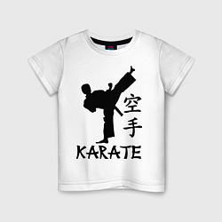 Футболка хлопковая детская Karate craftsmanship цвета белый — фото 1