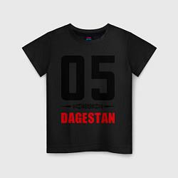 Футболка хлопковая детская 05 Dagestan цвета черный — фото 1