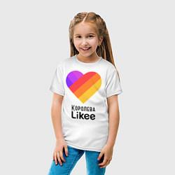Футболка хлопковая детская Королева Likee цвета белый — фото 2