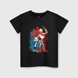 Футболка хлопковая детская UNDERTALE цвета черный — фото 1