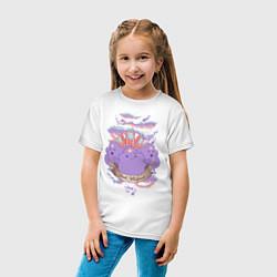 Футболка хлопковая детская Принцесса Пупырка цвета белый — фото 2