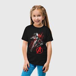 Футболка хлопковая детская Черная Вдова цвета черный — фото 2