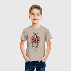 Футболка хлопковая детская Каратель цвета миндальный — фото 2
