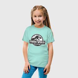 Футболка хлопковая детская Jurassic World цвета мятный — фото 2