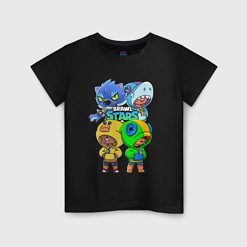 Детская футболка Brawl Stars Leon Quattro / Черный – фото 1