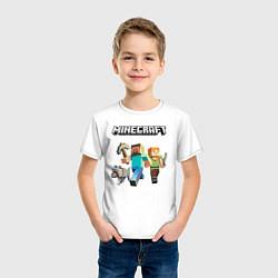 Футболка хлопковая детская MINECRAFT цвета белый — фото 2