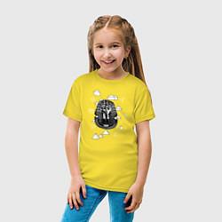 Футболка хлопковая детская Каир Древний Египет цвета желтый — фото 2