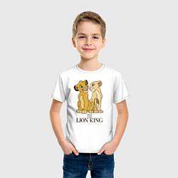 Футболка хлопковая детская Simba & Nala цвета белый — фото 2