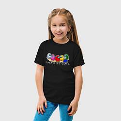 Футболка хлопковая детская Among Us цвета черный — фото 2