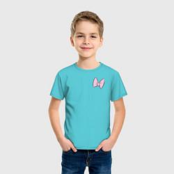 Футболка хлопковая детская Team Webby цвета бирюзовый — фото 2