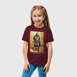 Детская хлопковая футболка с принтом Таков путь, цвет: меланж-бордовый, артикул: 10274518300014 — фото 2