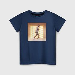 Футболка хлопковая детская Jony: Комета цвета тёмно-синий — фото 1