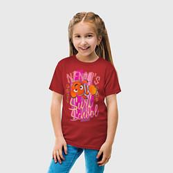 Футболка хлопковая детская Nemos Surf School цвета красный — фото 2