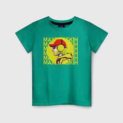 Футболка хлопковая детская Max Barskih цвета зеленый — фото 1