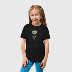 Футболка хлопковая детская MARLOW CROSSING цвета черный — фото 2