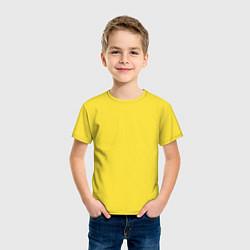 Футболка хлопковая детская Москва EVLTN цвета желтый — фото 2