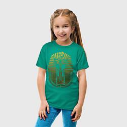 Футболка хлопковая детская Тутанхамон цвета зеленый — фото 2