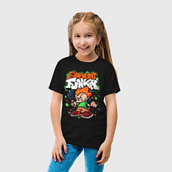 Футболка хлопковая детская Пико Friday Night Funkin цвета черный — фото 2